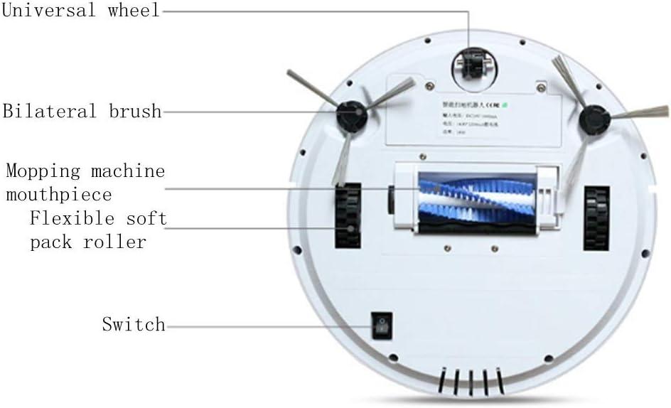 NANDAN Nettoyage Robot Aspirateur Intelligent Balayeuse Aspirateur Domestique Robot Aspirateur Double Dépoussiérage Famille d\'animaux,Rosegold Rosegold