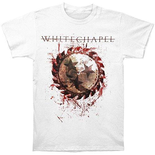 Whitechapel Men's Saw Splatter T-shirt Small White