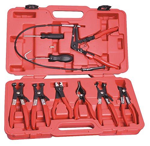 Kit alicates para abrazaderas 9 piezas en maleta: Amazon.es: Bricolaje y herramientas