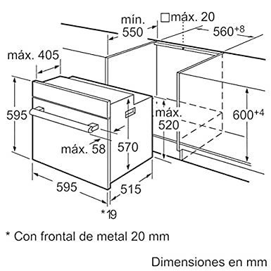 Bosch - Horno multifunción HBA74S350E pirolítico: Amazon.es ...