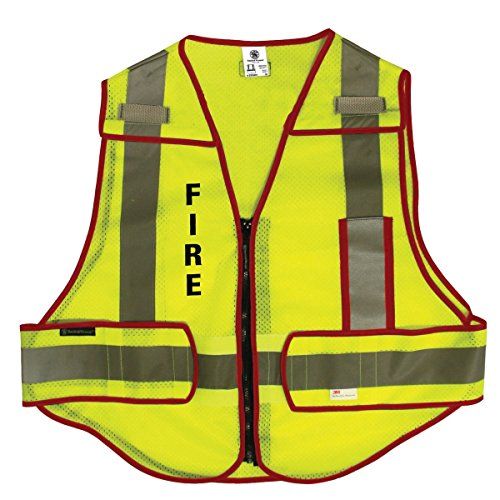 (Radians Smith & Wesson SVSW015 ANSI Class 2, 2X/4X Fire Logo, High Visibility Safety Vest)
