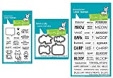 Lawn Fawn''Say What?'' Pets 3''x4'' Clear Stamp Set, Coordinating Die Set and Critter Chatter 4''x6'' Clear Stamp Set, Three Piece Bundle (LF1962, LF1963, LF1964)