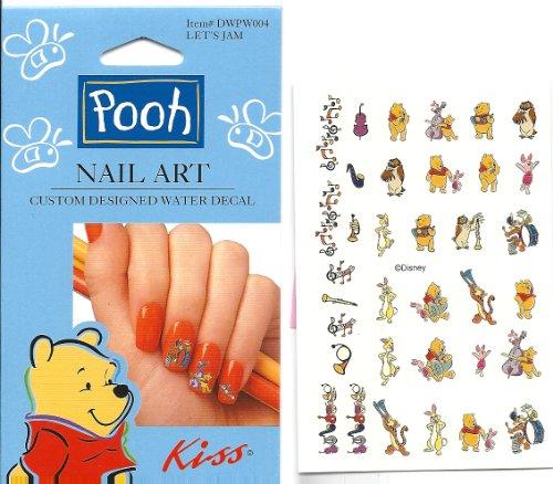 disney let 39 s jam winnie the pooh kiss licensed nail art. Black Bedroom Furniture Sets. Home Design Ideas
