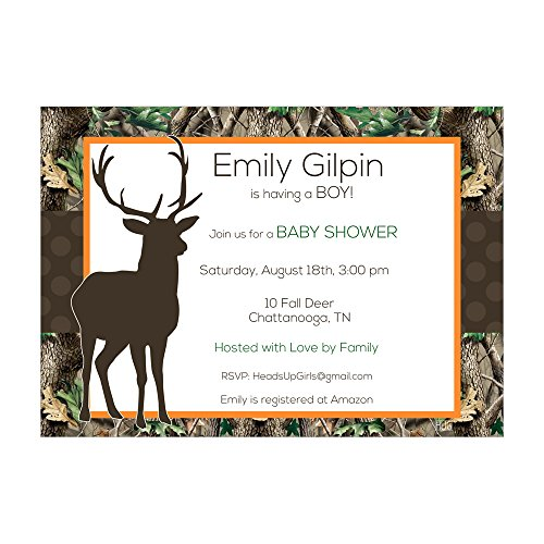 Set of 12 Customizable Personalized Baby Shower Invitatio...