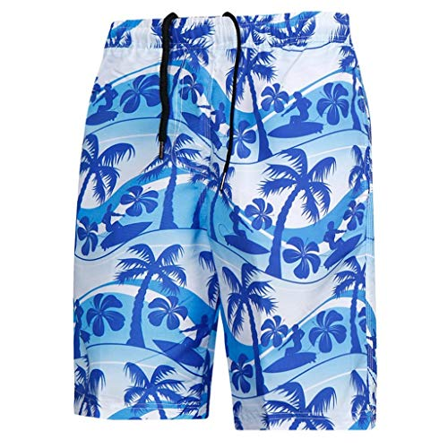 Men's Casual Print Shorts Beach Loose Pants Quickly Dry Sport Fitness Trousers, MmNote