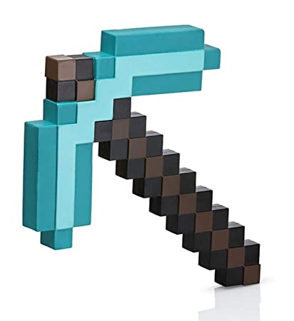 Minecraft Next Generation 3D Deluxe Diamond Pickaxe – Foam Pickaxe Replica  from the Minecraft Game