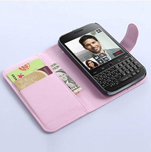 Funda Libro para BlackBerry Classic Q20,Manyip Suave PU Leather Cuero Con Flip Cover, Cierre Magnético, Función de Soporte,Billetera Case con Tapa para Tarjetas H