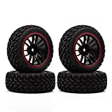 INJORA 70MM 30MM 4PCS Plastic Wheel Rim & Rally Tire for 1 10 RC Car Tamiya HSP HPI 4WD RC On Road Car