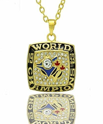 Toronto Blue Jays Necklace - Pendant Charm Chain Jewelry Unisex - Shipped from U.S.A. (Toronto Jays Blue Jewelry)