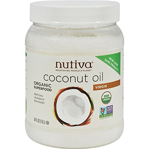 Nutiva Organic Virgin Coconut Oil -- 54 fl oz (Nutiva Organic Unrefined Extra Virgin Coconut Oil)