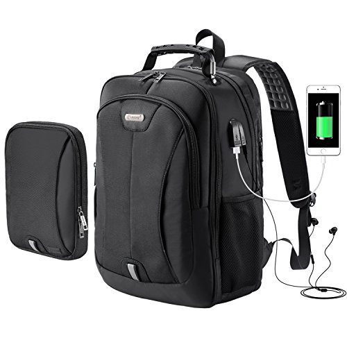 Backpack,Travel Laptop Backpack for Men and Women with USB Charging Port and Audio Jack,Modular Backpack with Removable Sling Bag, Waterproof Large Business School Bookbag for 15.6 Inch Noteook