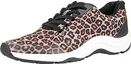 Vionic Women\'s Action Tourney Sneaker (Brown Leopard, 8)