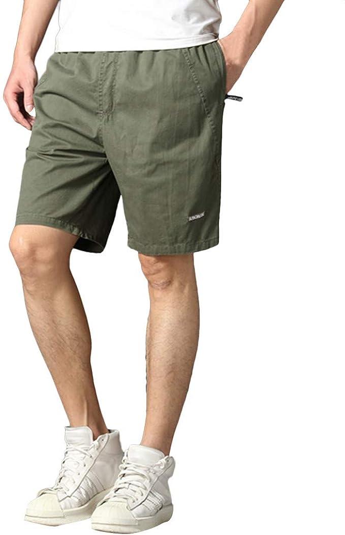 beautyjourney Shorts Cargo de Verano para Hombres en algodón y ...