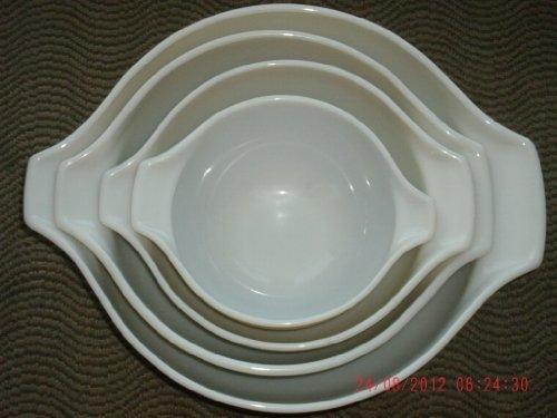 Vintage Pryex Forest Fancies Mushroom Bowls Set of 4 - Micro Safe and Oven Safe ()