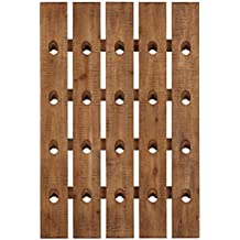 "Stone & Beam Vintage Wood Decorative Wine Riddling Rack, 31""H, Light Brown"