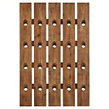 Stone & Beam Vintage Wood Decorative Wine Bottle Riddling Wall Mounted Rack - 31 x 21 x 3 Inches, Light Brown