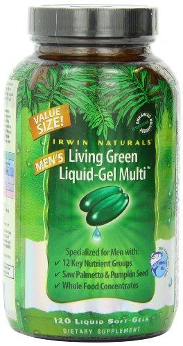 Irwin Naturals Living Green Multi Liquid-Gel for Men, 120 Count, Health Care Stuffs