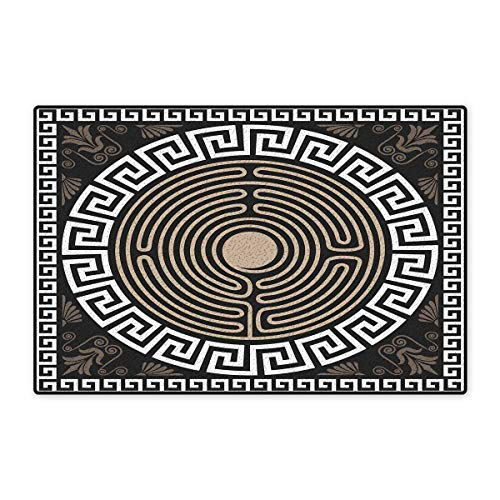 - Greek Key Bath Mats for Bathroom Grecian Fret and Wave Pattern on Dark Background Antique Retro Swirls Floor mat Bath Mat 20