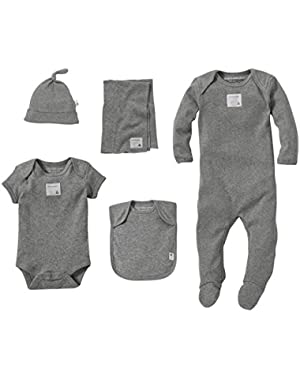 Unisex Baby Coming Home 6 Piece Gift Basket (Baby)-Gray - 3-6 Months
