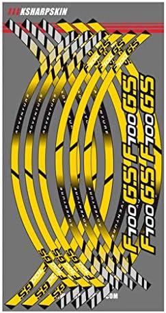 Psler Motorrad Felgenrandaufkleber Rim Stripes Aufkleber Für F700gs Gelb Auto