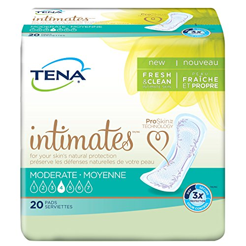 - Tena Intimates Moderate Regular Incontinence Pad For Women, 20 Count