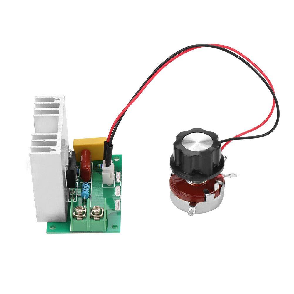 Akozon Regulador de Voltaje Thyristor 4000W AC 220V Motor Abanico Regulaci/ón de Luz y Velocidad y Temperatura