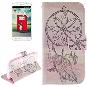 National Cap Style Pattern Case Cover Funda con tapa Holder & Card Slot & Wallet para LG L70 D325/Dual
