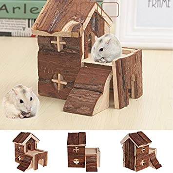 House Small Two Story Holzhaus Exquisite Chinchilla Kleintier