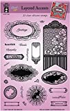 hot off the press stamps and dies - HOTP Clear Stamps - Layered Accents - Silicone Stamps HOTP1226