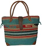 Amerileather Women's Odyssey Handbag,Turquoise,US