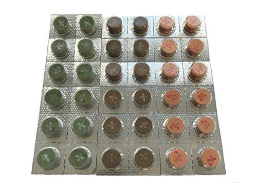 (Moori Japan Billiard Accessories Jewel Layered Tips 14mm Carom Billiards Pool Cue Laminated Tips Version H Color Ruby)