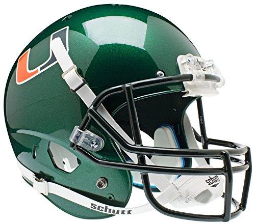 Miami Hurricanes Team Helmet - NCAA Miami Hurricanes Replica XP Helmet - Alternate 1 (Green)