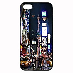 New York City Times Square Custom Image For Apple Iphone 4/4S Case Cover , Diy Diy Hard For Apple Iphone 4/4S Case Cover , High Quality Plastic Case By Argelis-sky, Black Case New