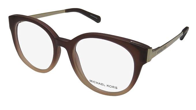 008d906629d2 Michael Kors Galicia 8010 Womens/Ladies Designer Full-rim Flexible Hinges  Eyeglasses/Spectacles (50-18-135, Gradient Brown/Gold): Amazon.co.uk:  Clothing