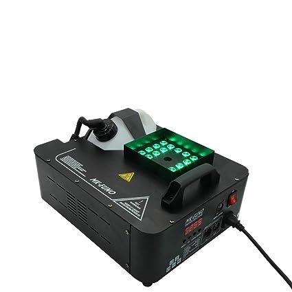 1500w Rgb 3in1 Dmx Led Fogger Smoke Machine 24pcs Rgb 3in1 Led Colorful Fog Machine Lights & Lighting Commercial Lighting