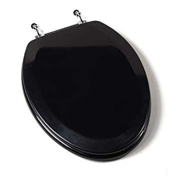 Toilet Seat Rf Wood Ch Hng BlkToilet Seat  Rf  Wood  Ch Hng  Blk     Amazon com. Wooden Black Toilet Seat. Home Design Ideas