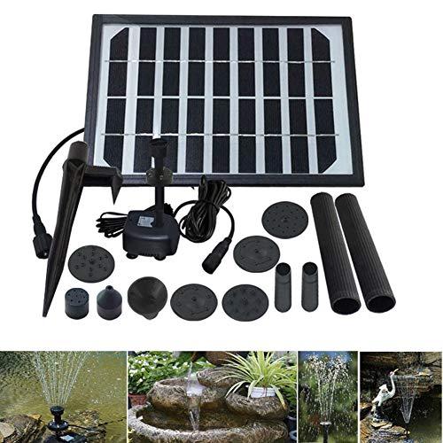 Amazon.com : MJLXY 5W Bomba de Agua Solar, Equipo de Paneles de Bomba de Agua de Energía Solar Fuente Bomba Sumergible para Baño de Pájaros, Pecera, ...