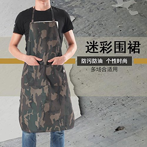 Women smock overalls adult 1Pcs for Men 1 Pcs for Women Waterdrop with 2 Pocket camouflage Apron Water Proof //Oil Proof New Spun Poly-commercial Restaurant Cooking Kitchen Aprons for Men