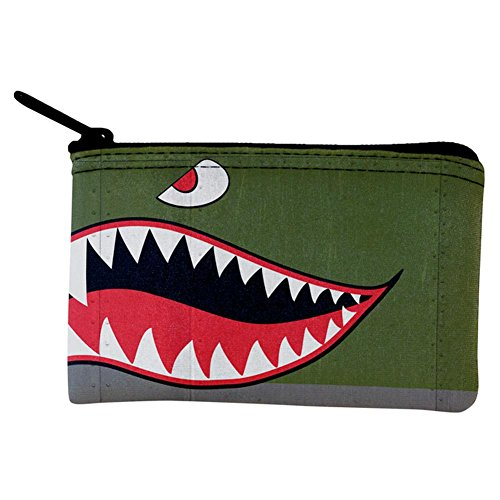 Halloween WWII Flying Tiger Fighter Shark Nose Art Coin Purse Multi Standard One Size