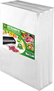 ATSAMFR 4mil 100 Gallon Size11x16Inch Vacuum Sealer Food Saver Bags with BPA Free,Heavy Duty,Great for Vac storage or Sous Vide Cooking