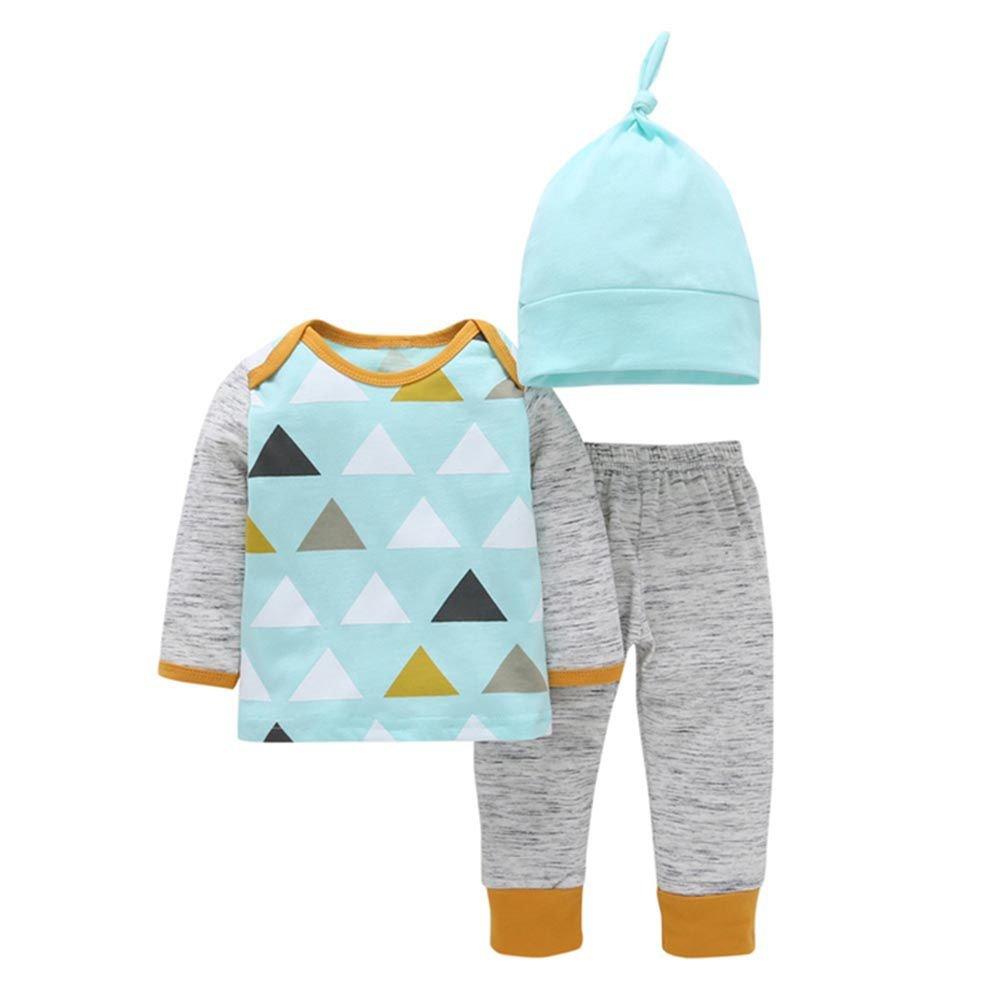 PanDaDa 3 PC Abbigliamento Neonato Bambini Maglia Manica Lunga + Pantaloni + Cappello YHL-0014