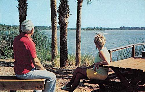 (Leesburg Florida Harbor Oaks Mobile Home Trailer Park Vintage Postcard JA455427)