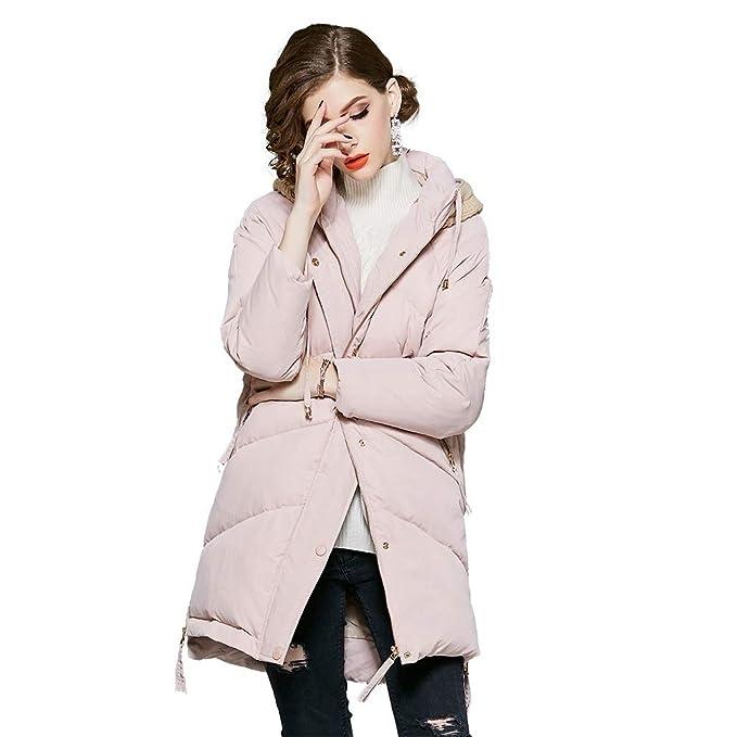 YZ-HOD Chaqueta de pluma para mujer Pato blanco Abajo Relleno Diseño con capucha Moda Abrigo Cálido Ideal para viajes, esquí y deportes de invierno: ...
