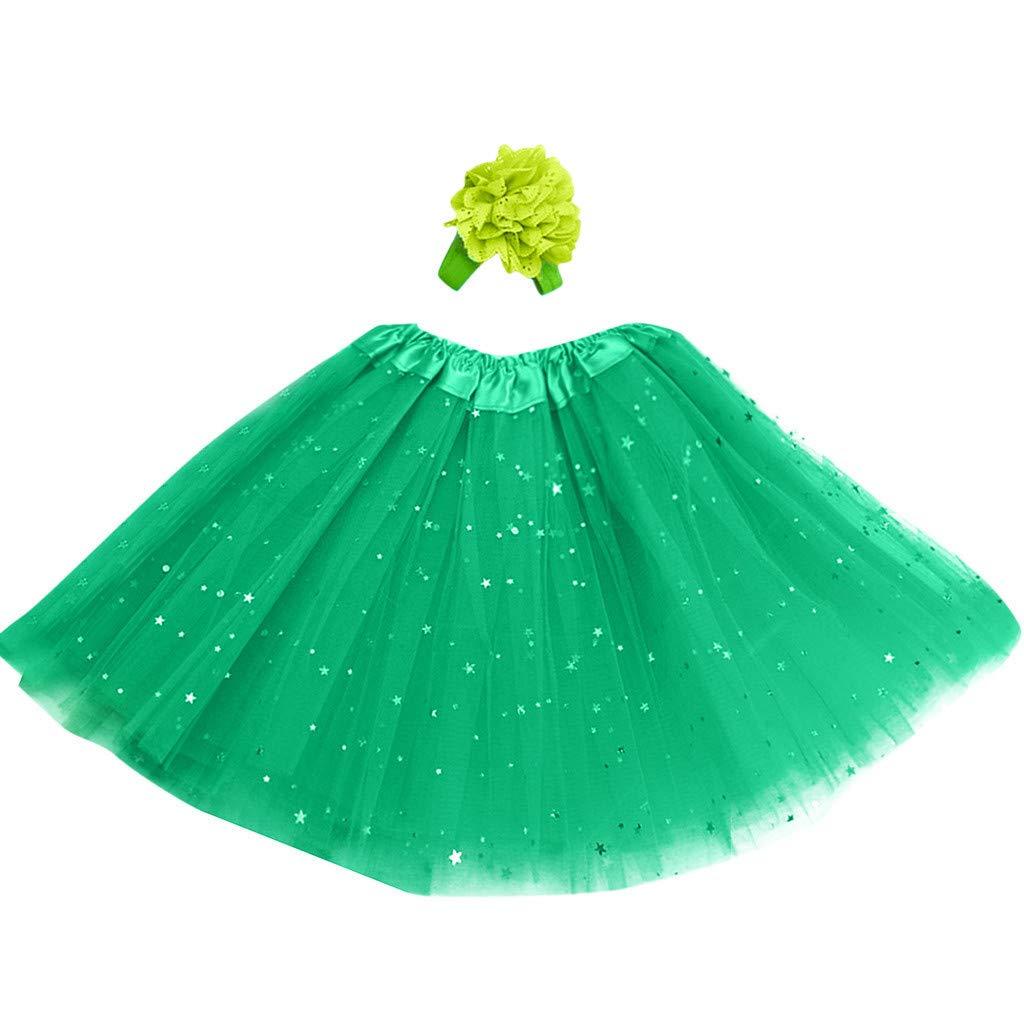 Hair Band UK 3-8 Years,Toddler Baby Summer Princess Dresses Pettiskirt Party Fancy Dress up Dresses for Girl Clothes Dance Skirt Children Costume Gift Girls Tulle Ballet Tutu Skirt