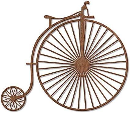 Chapa Deko caoba madera natural Madera bicicleta antigua biciclo ...