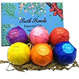 other persons wish list - Bath Bombs Gift For Women - Ultra Large Lush Handmade Natural Essential Oil SPA Fizzies for Moisturizing Dry Skin (6 x 3.6 OZ)
