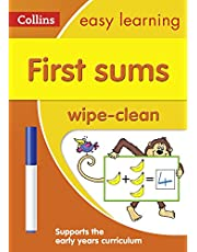 First Sums Age 3-5 Wipe Clean Activity Book: Ideal for Home Learning