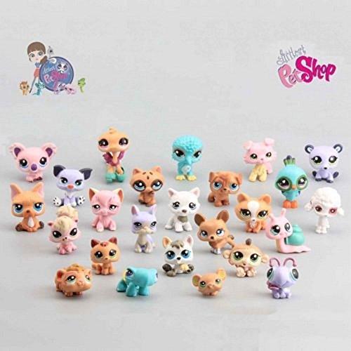 Cute Rare Littlest Pet Shop LPS 25Pcs Lot Figures Collection Toy Cat Dog (Lps Party Supplies)