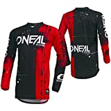 ONeal Mens Element Shred Jersey (Red, Medium)