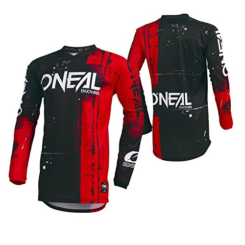 O'Neal Unisex-Child Youth Element Jersey (SHRED) (Red, Large)